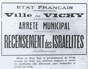 3 octobre 1940 Statut des juifs en zone libre vichy