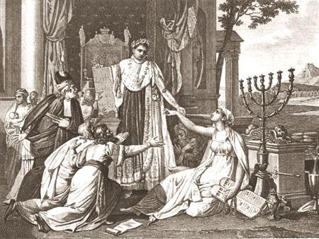 Napoléon le grand rétablit le culte des Israélites le 30 mai 1806 Paris, Bibliothèque nationale